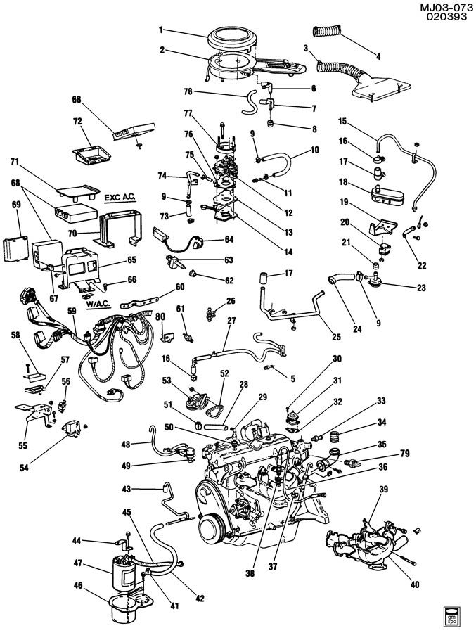 Chevrolet Cavalier Module  Emission Control System  Labeledacdelco  Contcode