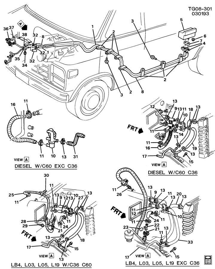diagram of pontiac 301 engine