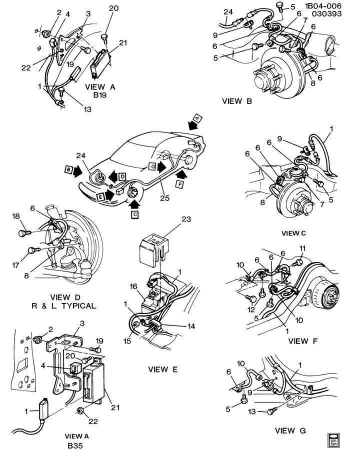 1991 chevrolet caprice brake system  antilock electrical