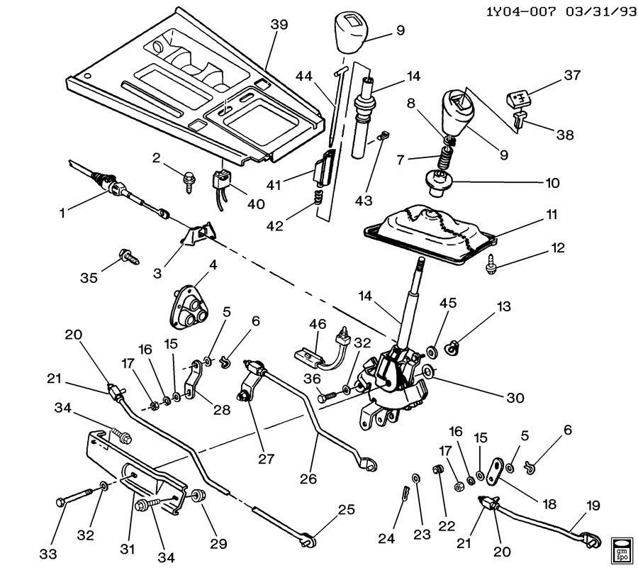 shift controls  manual transmission 4 speed