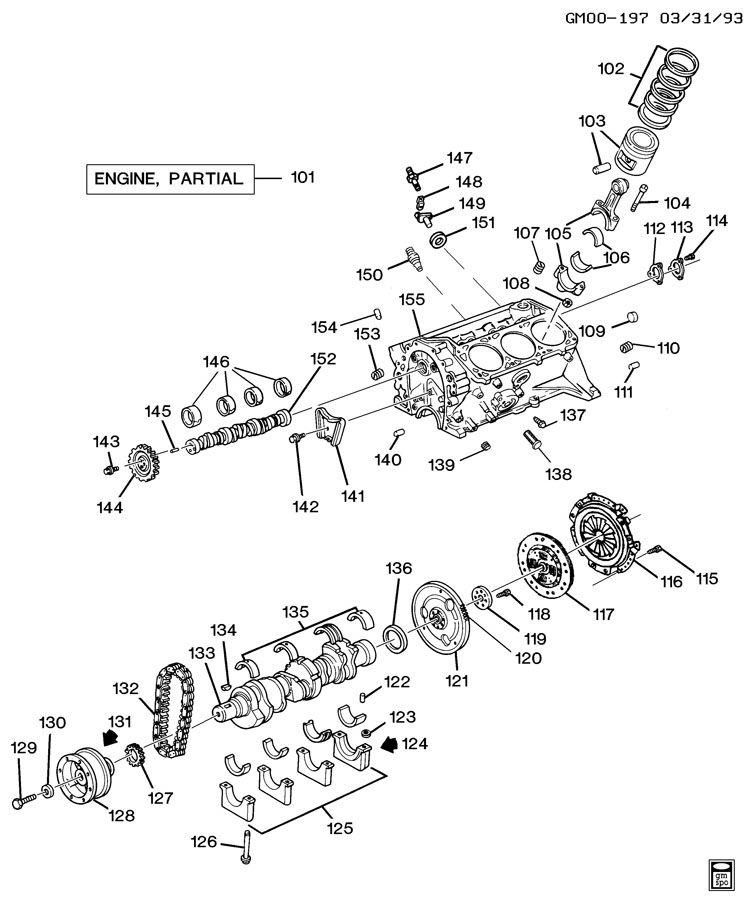 ENGINE ASM-3.1L V6 PART 1 CYLINDER BLOCK & INTERNAL PARTS