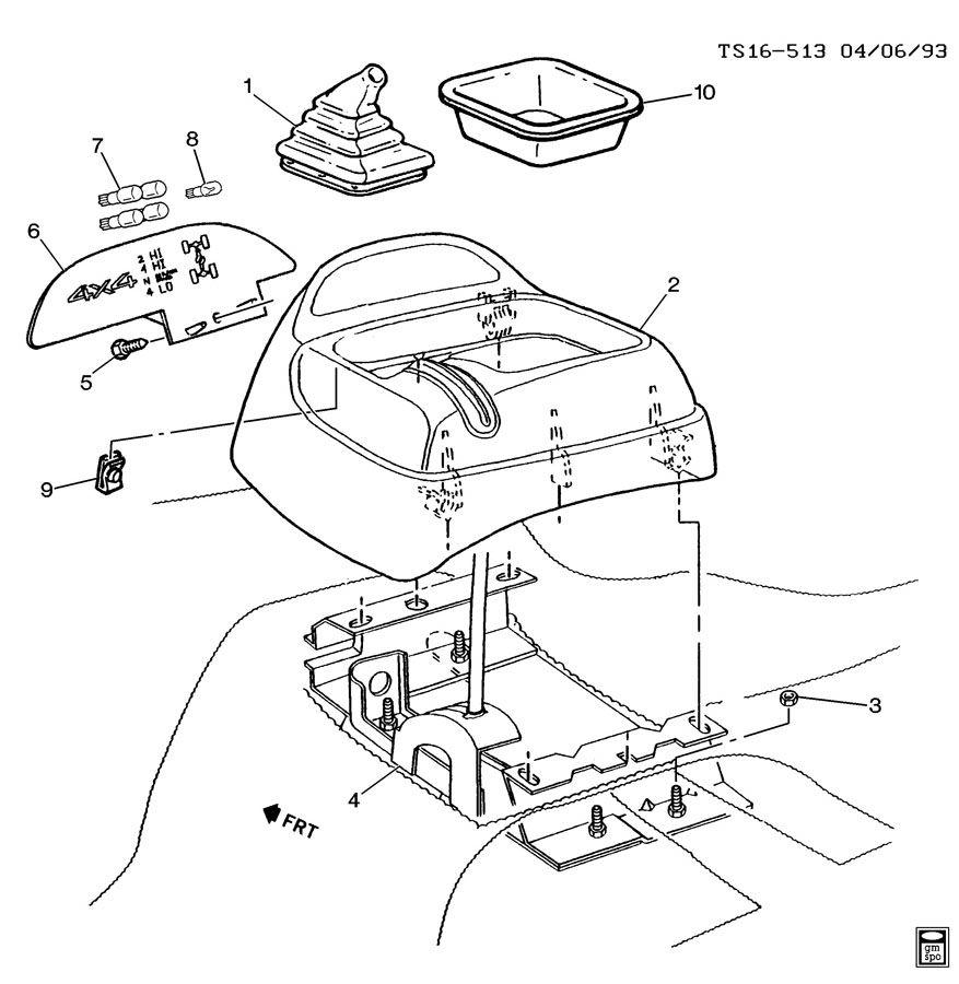 Gmc Sonoma Lever  Transfer Case Shift Control  Controlstransfer