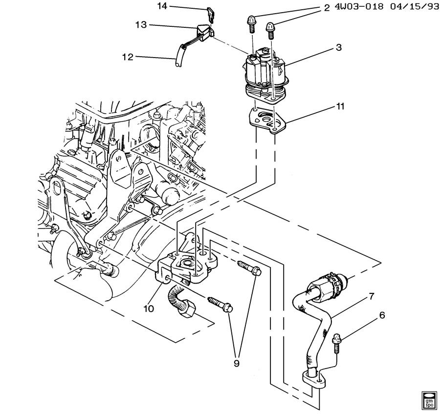1995 Buick Regal Transmission: E.G.R. VALVE & RELATED PARTS