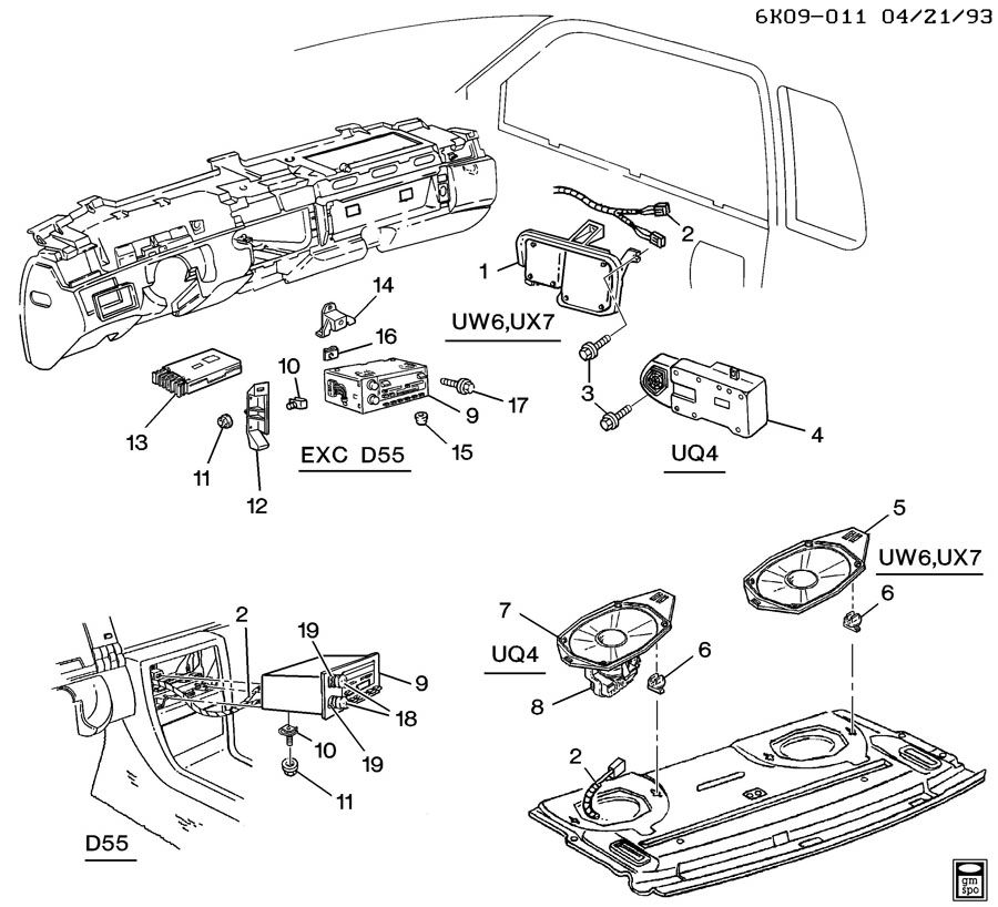 Showassembly on 1994 Cadillac Deville Concours Parts