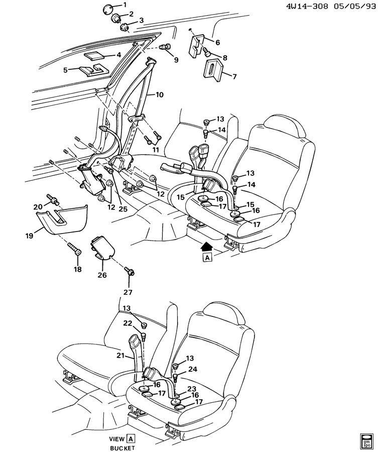 Buick Regal Belt Kit  Seat Belt  Belt Kit  P  Seat Retr Si