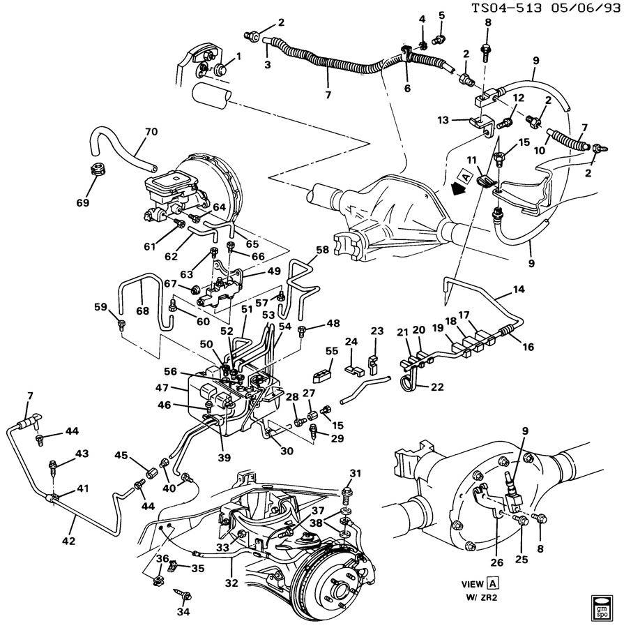 gmc sonoma brake lines