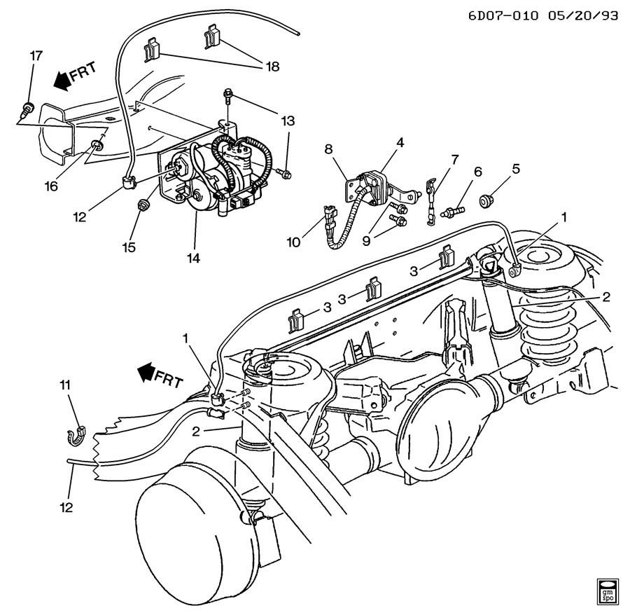 Cadillac Eldorado Rear Air Suspension Diagram Circuit Connection 1994 Fuse Box Level Control Cts 2008 Front
