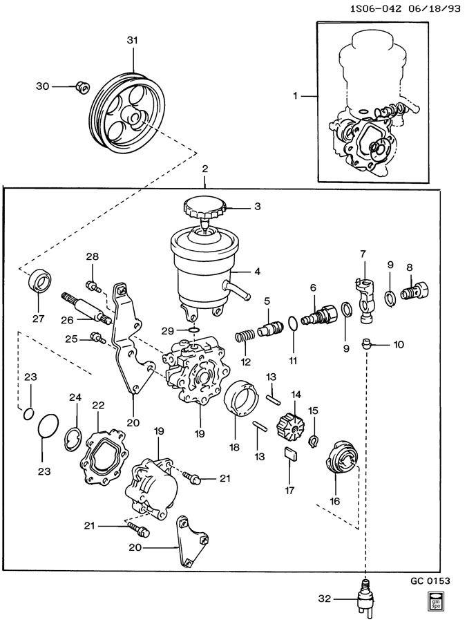 Geo Prizm Rotor. Steering pump. Rotor, p/s pump(stamped: 3 ...