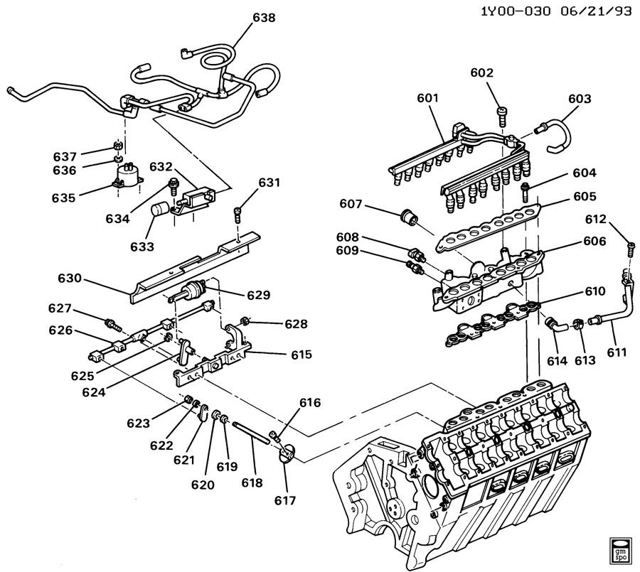 ENGINE ASM-5.7L V8 PART 5 MANIFOLDS AND FUEL RELATED PARTS