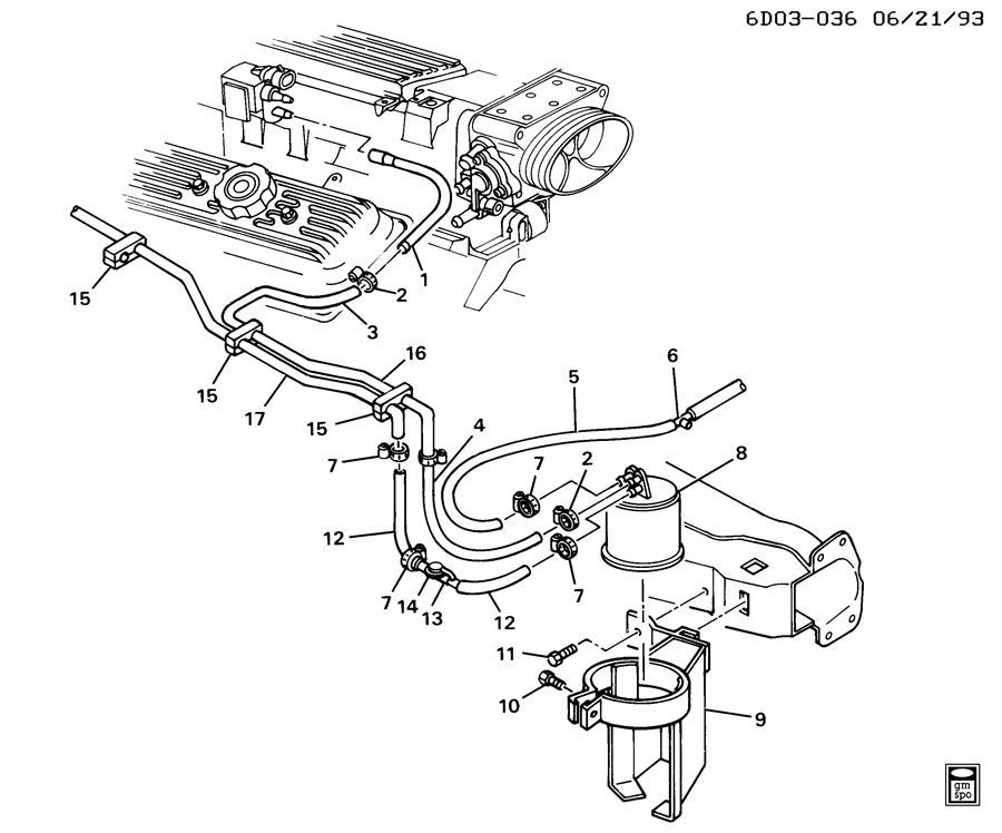 2007 Chevy Impala Fuel System Diagram