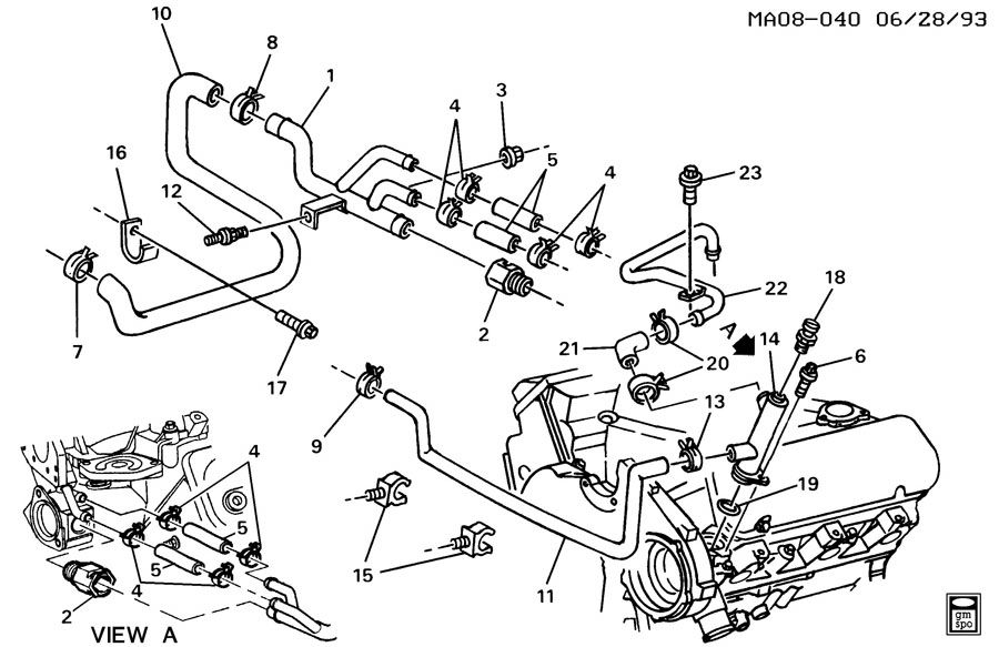 12590279 - Gm Pipe  Engine Coolant By