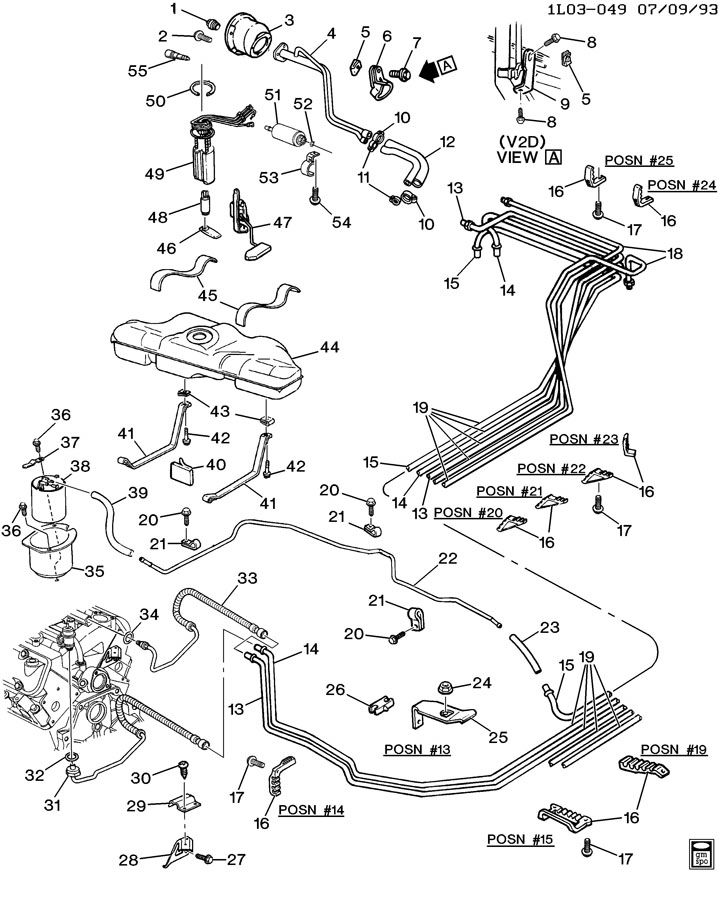 1992 chevy lumina steering diagram