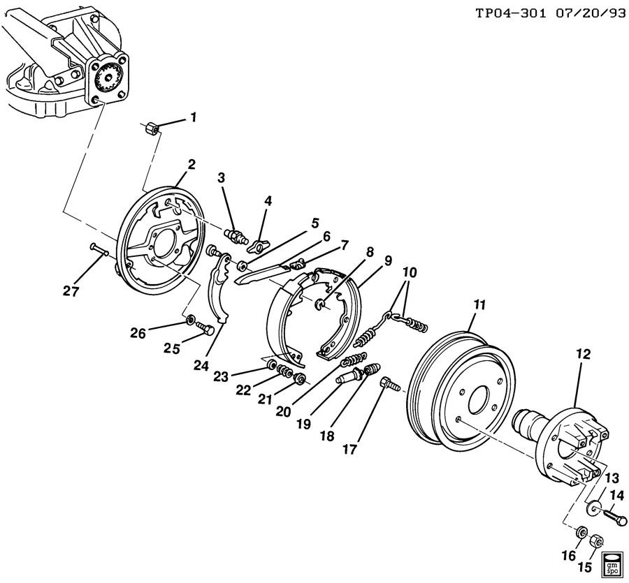 p30 chassis parking brake diagram