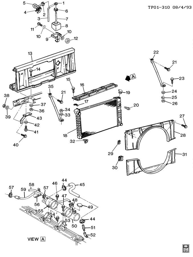 radiator mounting  u0026 related parts