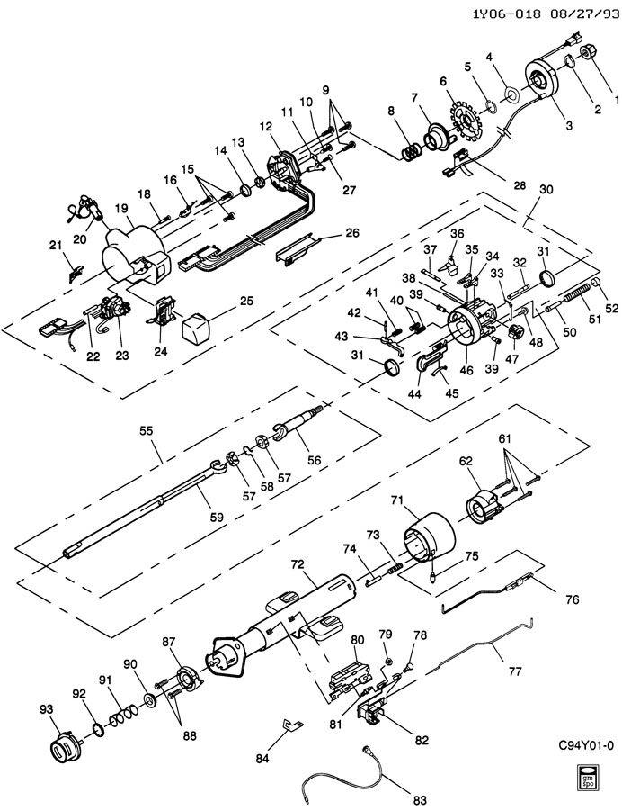 service manual  1994 subaru justy tilt steering column