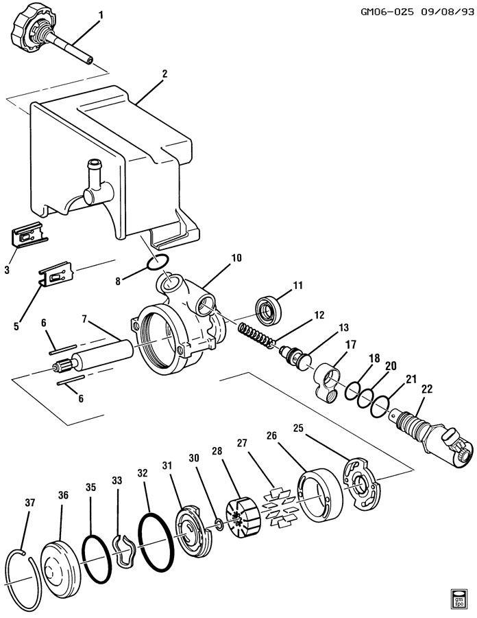 steering pump asm