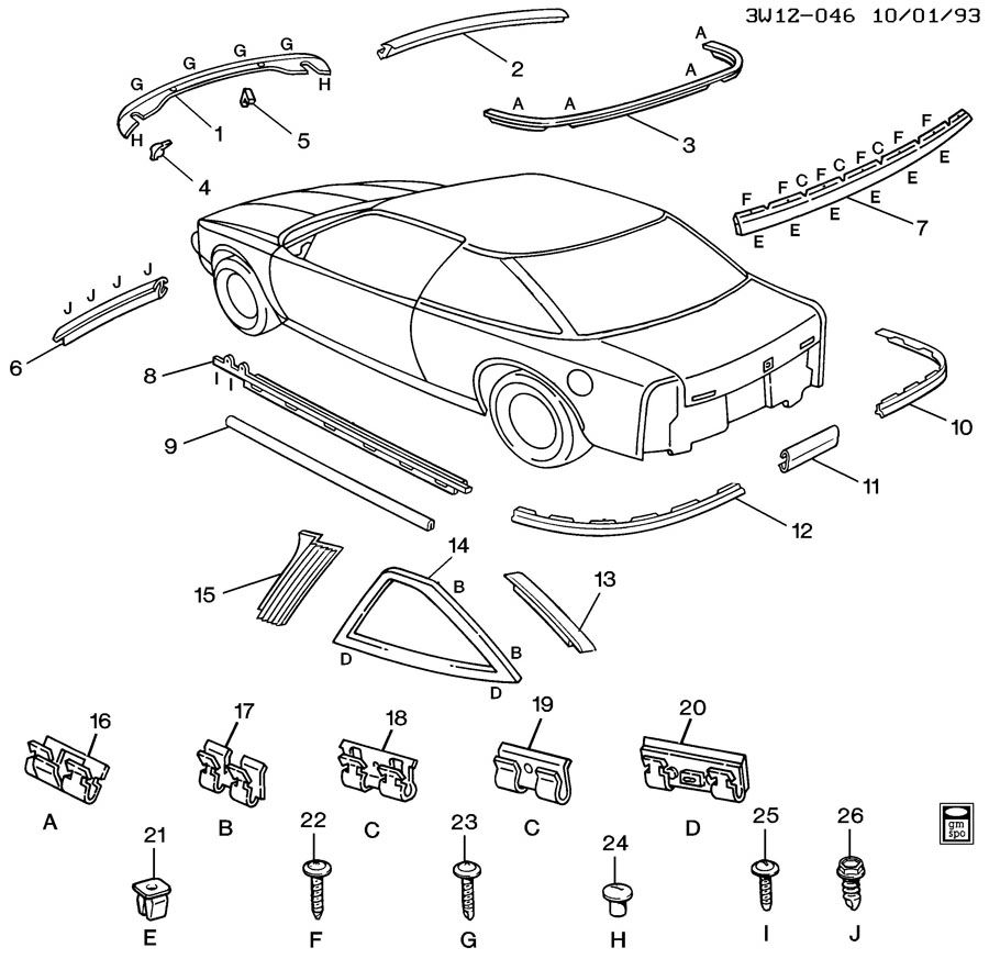1995 oldsmobile cutl supreme parts diagram  oldsmobile