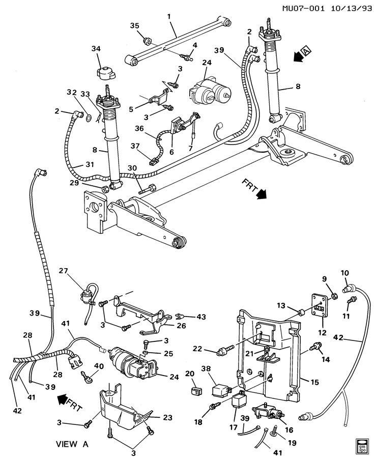 Pontiac Trans Sport Level Control System Automatic