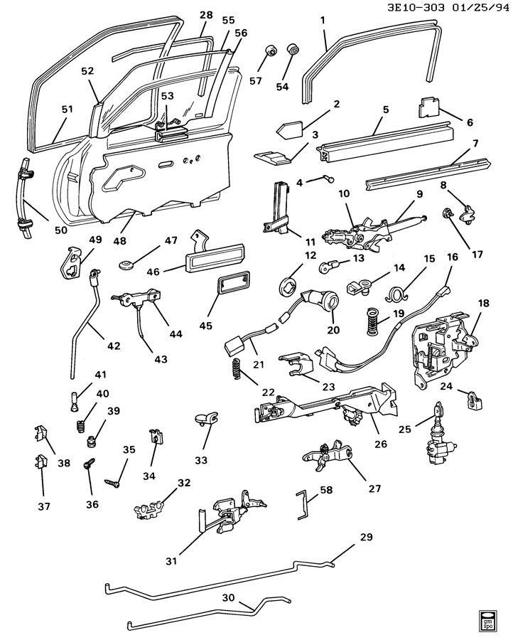 1990 oldsmobile toronado trofeo door hardware  front