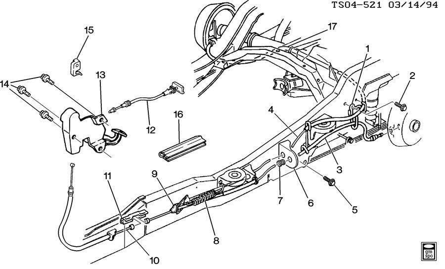 Chevrolet S10 Switch  Parking Brake Indicator  Switchpark