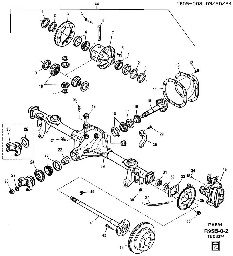 2002 GMC Sierra Front Differential Diagram besides G80 Rear Differential Parts Diagram 2003 as well 2006 Chevy Equinox Rear Differential also Home  gt  AXLE ASM REAR 9 50 RING GEAR PART 2 DIFFERENTIAL LOCKING additionally Chevy Equinox Rear Differential. on gm rear differential parts