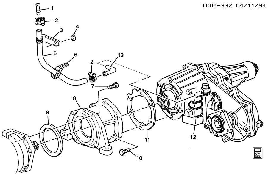 Transfer case adapter vent hose