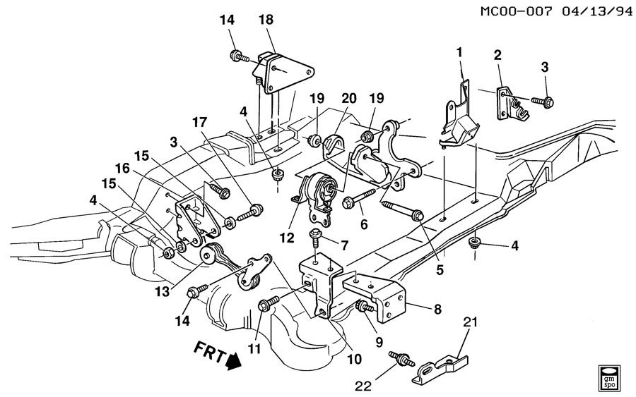 buick park avenue engine  u0026 transmission mounting