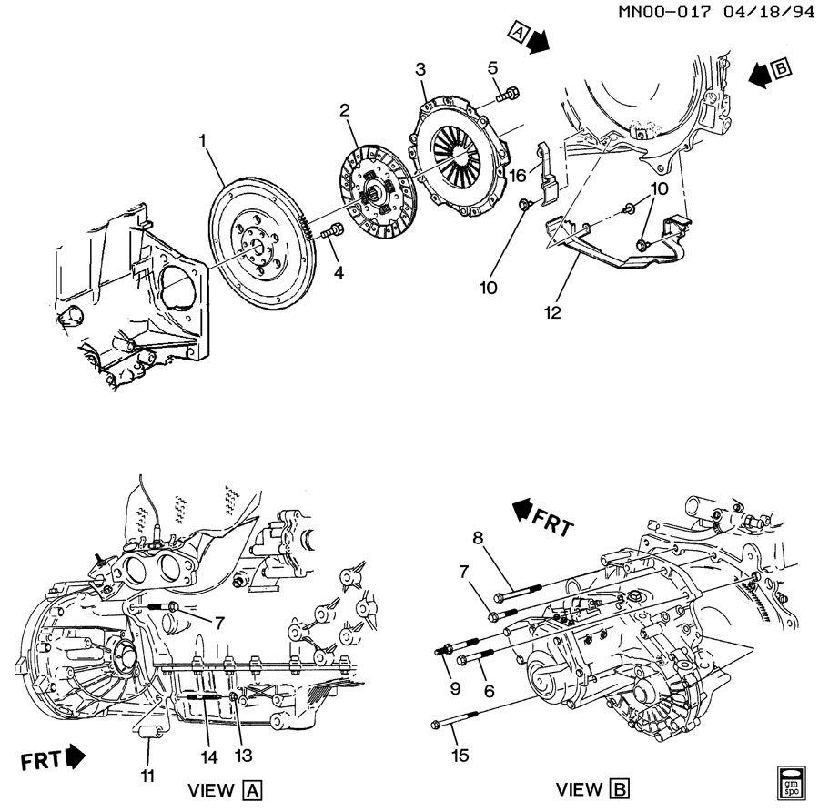 1995 Pontiac Sunfire Transmission: CLUTCH; CLUTCH-L4-2.3L; CLUTCH-L4-2.4L