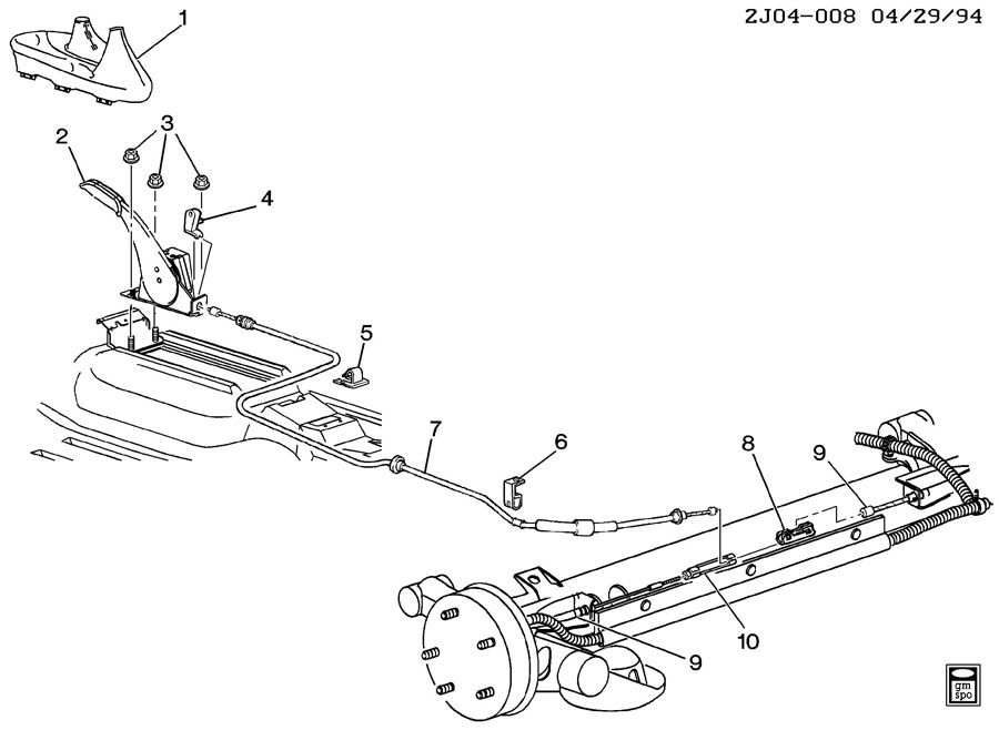 pontiac sunfire parking brake system