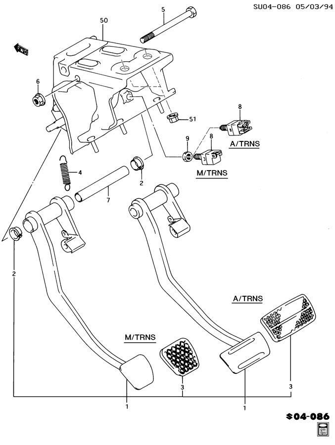 chevrolet brake pedal