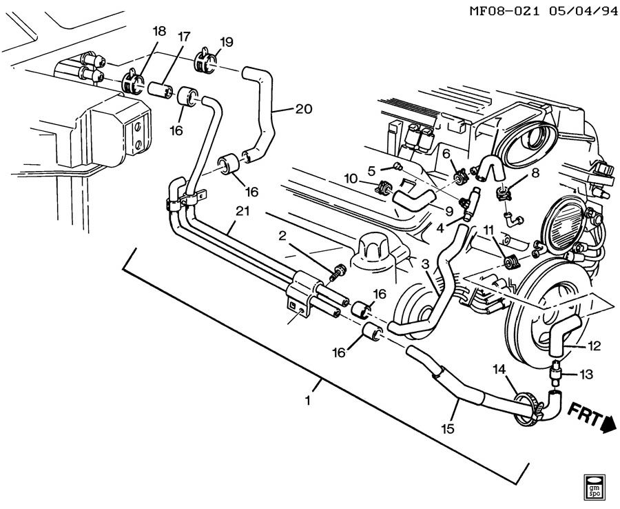 1995 Gmc 57 Engine Diagram