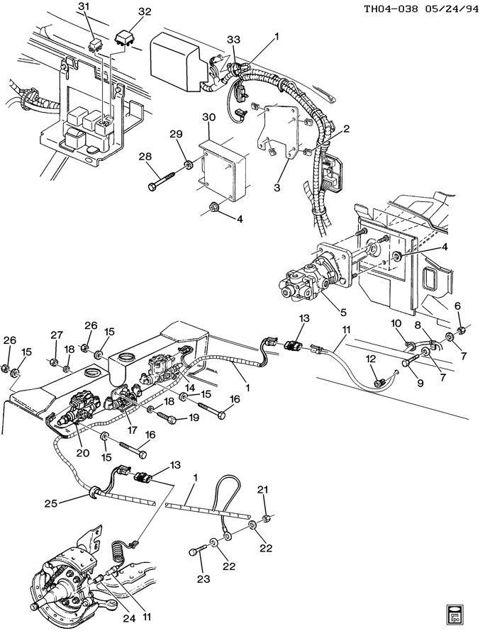 1997 GMC C7500 Bracket  connector  module  relay  relay
