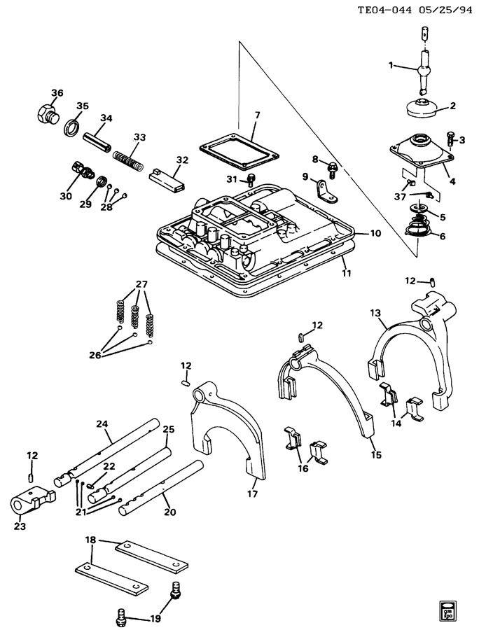 15619051 gm lever gearshift control msc stub vendor. Black Bedroom Furniture Sets. Home Design Ideas