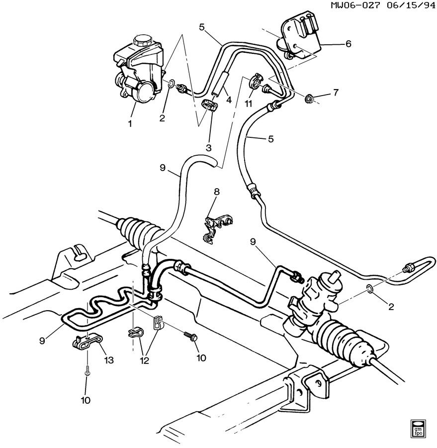 oldsmobile cutlass steering hydraulic system
