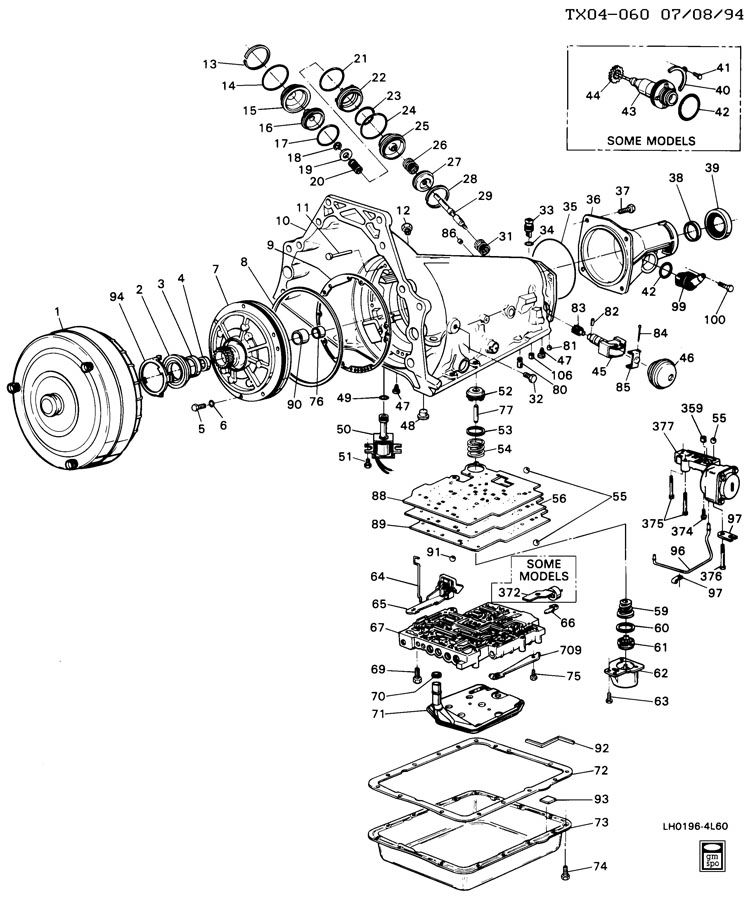 Gm 4l60e Transmission Diagram