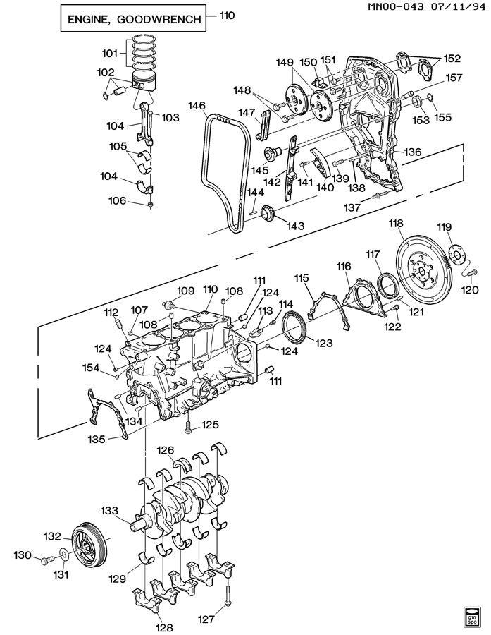 Chevrolet Cavalier Sensor  Distributor   Also Knock Sensor