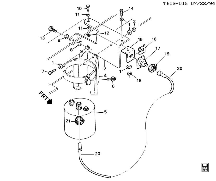 17087136 gm canister fuel tank evaporator control fuel. Black Bedroom Furniture Sets. Home Design Ideas