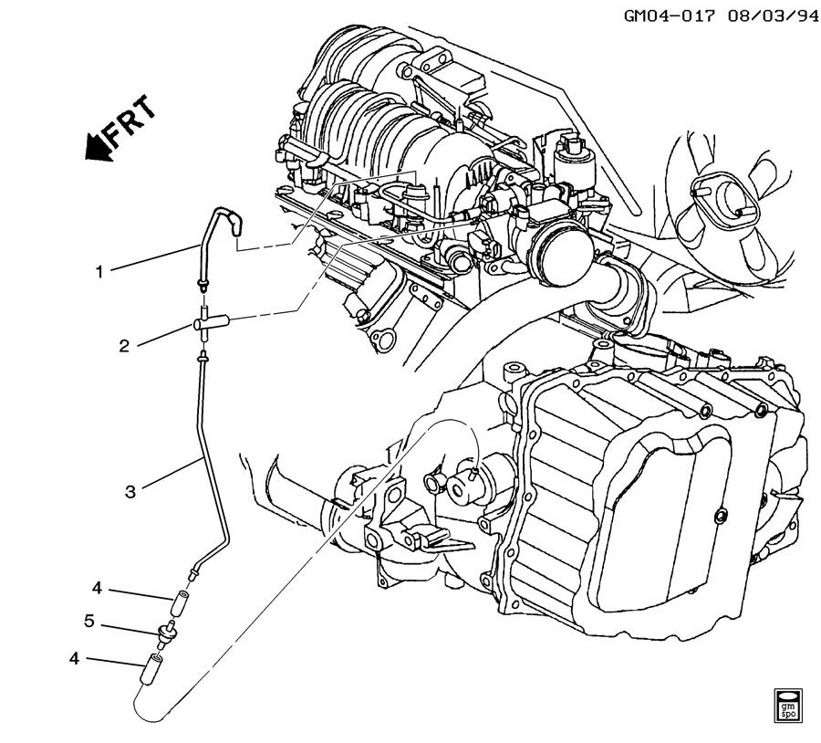 buick modulator pipe  automatic transmission