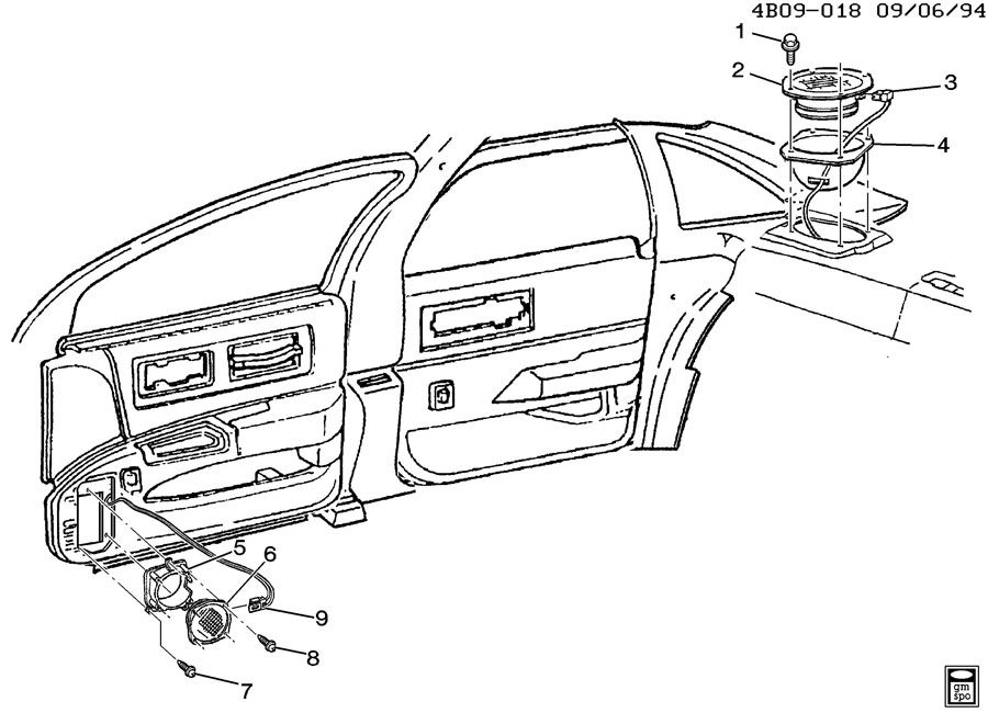 Diagram AUDIO SYSTEM for your 2010 Chevrolet Impala