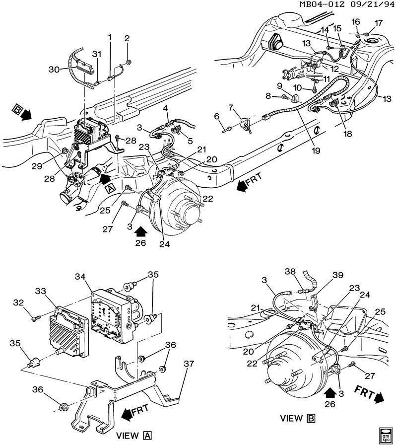 1996 saturn brake drum diagram
