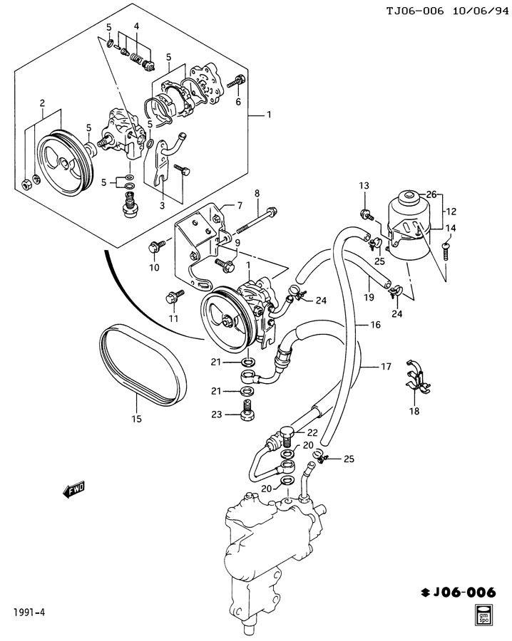 Geo Tracker Bolt  Carburetor To Manifold  Engine Oil Pan