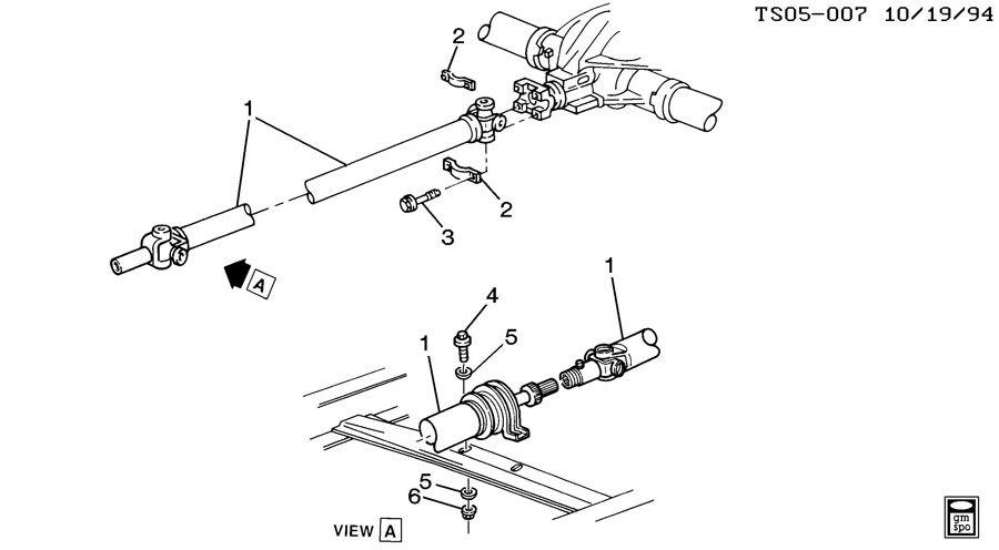prop shaft mounting