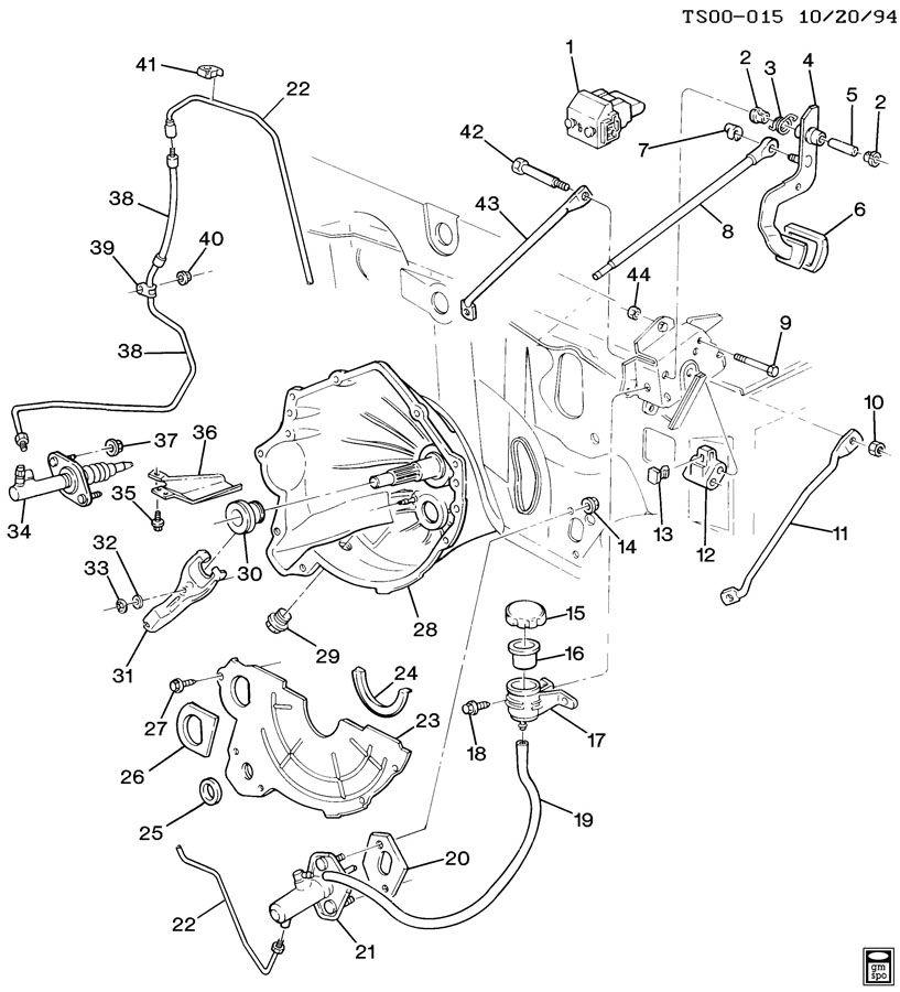 Chevrolet S10 Reservoir  Hydraulic Clutch Reservoir