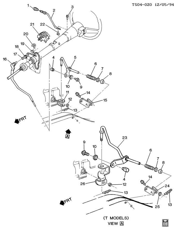 1984 Cadillac Eldorado Screw  Transmission Shift Shaft Lever Rod  Bolt  Gearshift Rod To