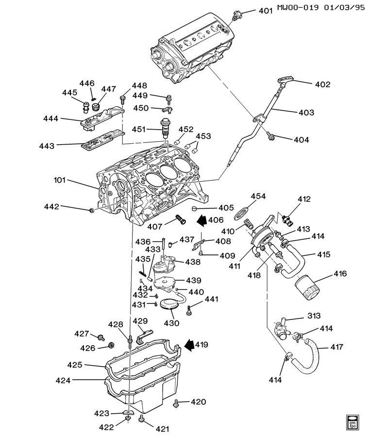 lumina 3 4 dohc engine diagram