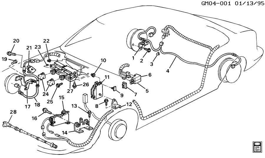 1994 buick lesabre brake system  antilock