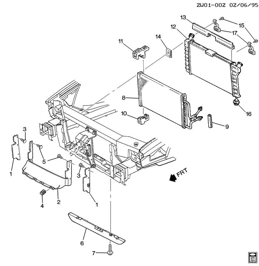 Pontiac Grand Prix Deflector  Radiator Air  Deflector  Rad Air Lwr  Deflectorrad  Partsfront