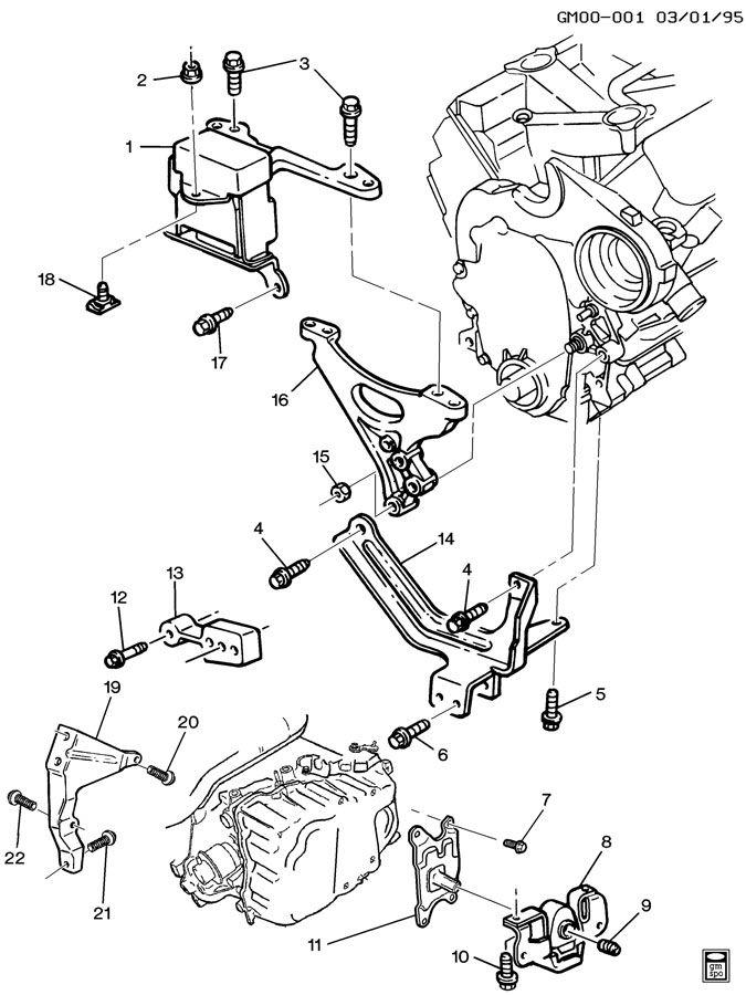 1991 pontiac 3 1l engine diagram 1996 pontiac grand am 3 1l engine diagram engine & transmission mounting-v6-3.1l