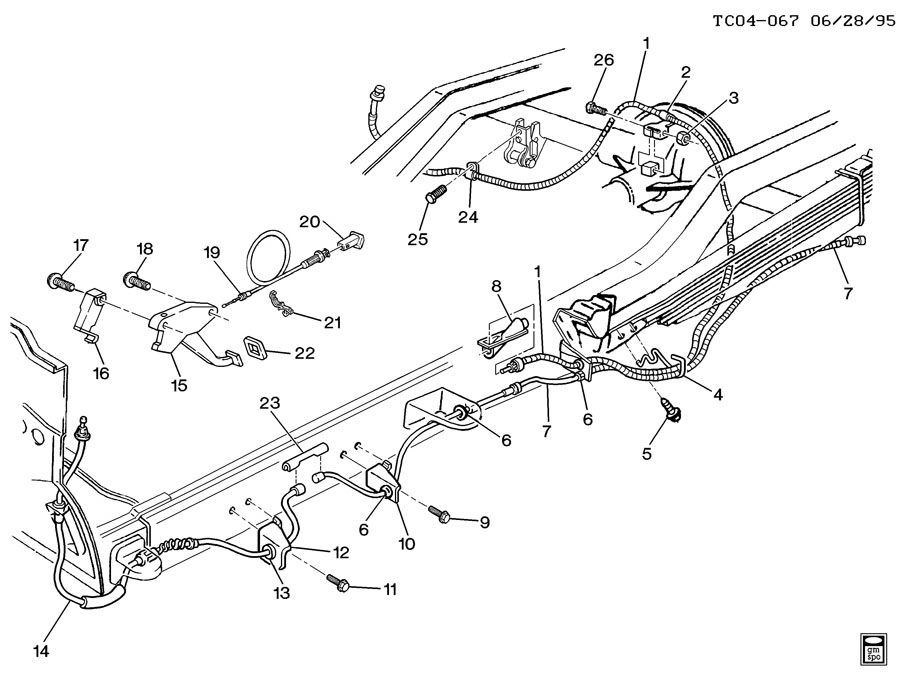15021201 - Chevrolet Cable. Parking brake. Cable, park brk ...
