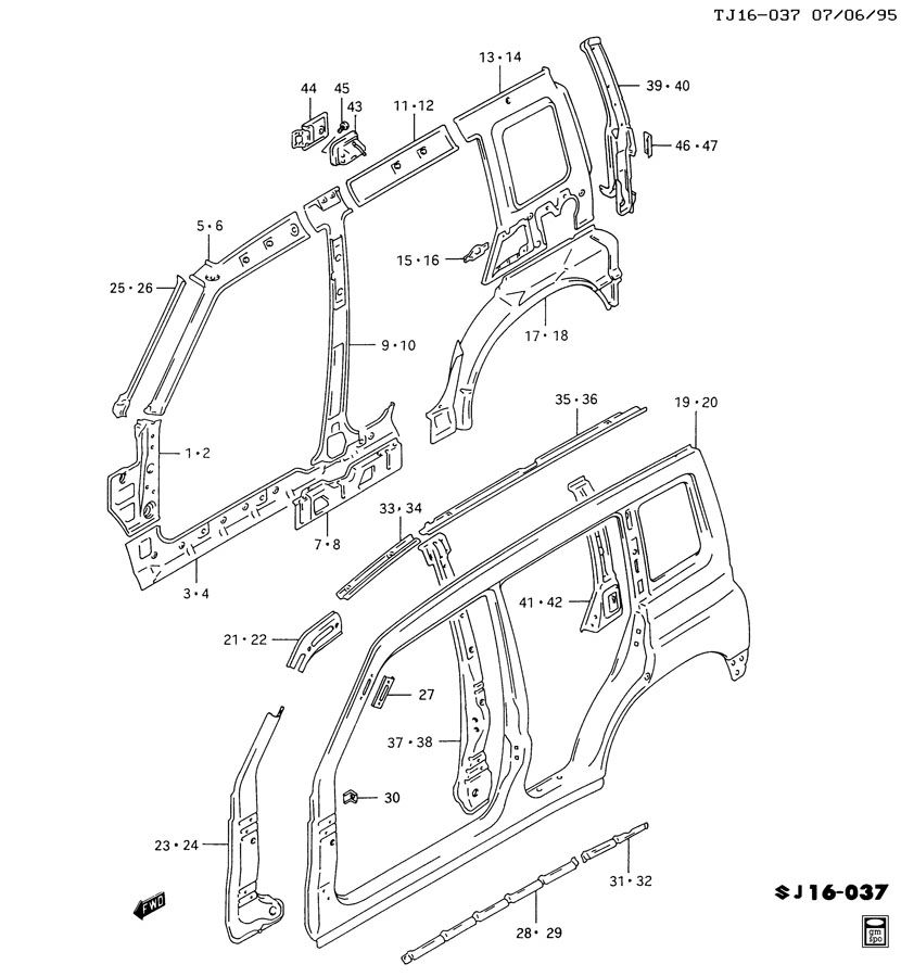 truck rocker panel diagram